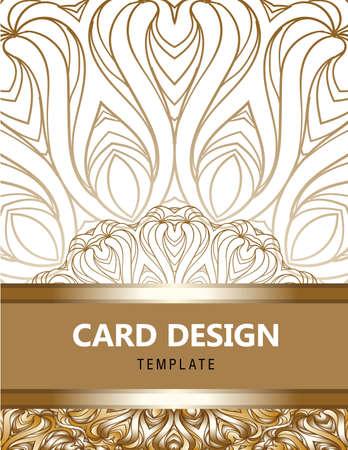 Luxury ornament, rich golden decor, perfect design template.
