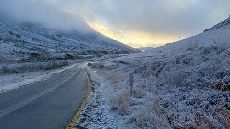 drive through: Drive through the snowy Clarens