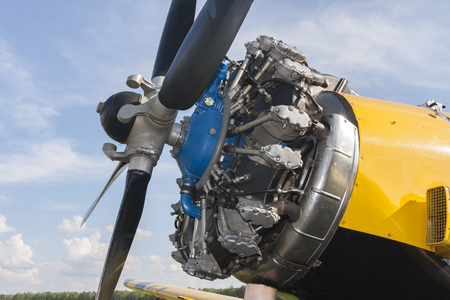 The propeller and engine aircraft in closeup Reklamní fotografie