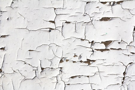 flaking: grunge white background - wood with cracked paint Stock Photo