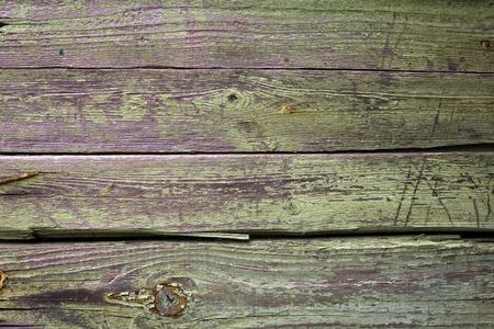 fence: old vintage grunge green board with cracks