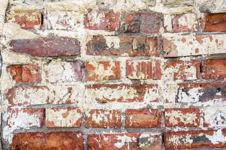 split level: brick wall. Background of old brick wall texture