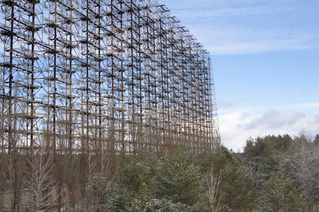 chernobyl: Soviet radar facility DUGA in Chernobyl Exclusion Zone Stock Photo