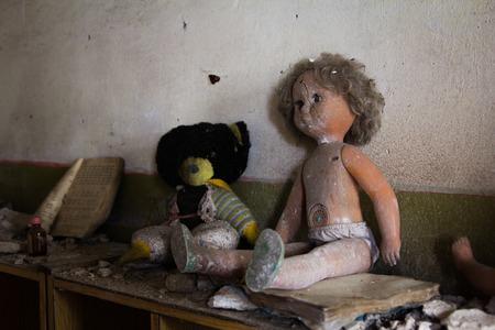 abandoned: Old abandoned dolls in the abandoned kindergarten