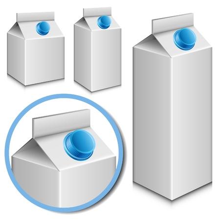 carton de leche: Blank conjunto cart�n de leche