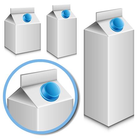 envase de leche: Conjunto cartón de la leche