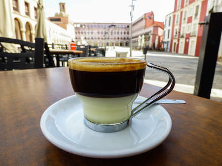 Cafe Bonbóm (espresso+condensed milk) in Badajoz, Spain