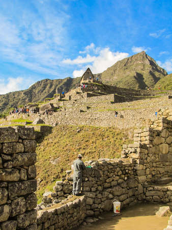 archaeologies: Details of Machu Picchu archaeological site