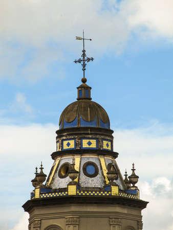 to paula: Details of São Francisco de Paula Cathedral in Pelotas, state of Rio Grande do Sul, Brazil