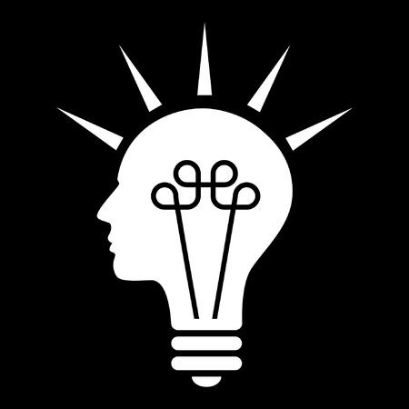 power vector: Getting an idea. Illustration