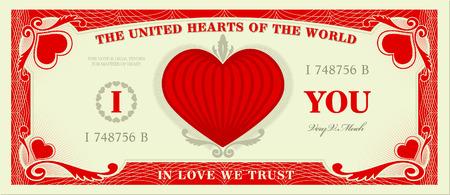 message vector: Imag�nese mundo donde la moneda es el amor ... Vectores