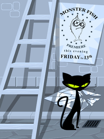 Lots of bad luck in one place. And on Friday the 13th! Stock Vector - 2709207