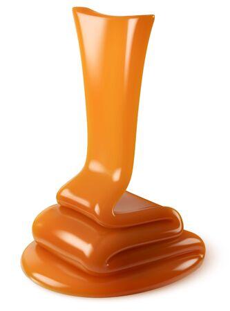 Vector caramel on white background