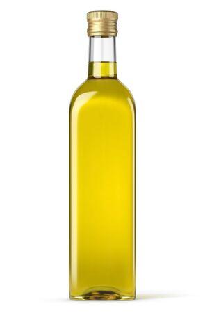 Vector olive oil bottle on white background
