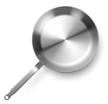 Vector frying pan on white background
