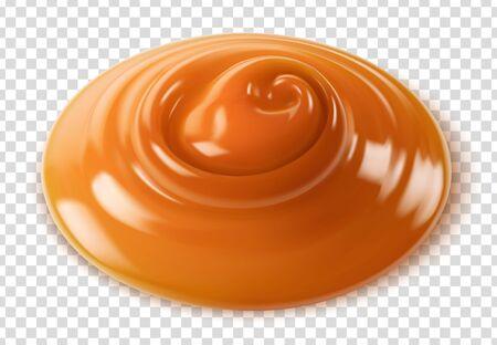 Vector caramel on transparent background