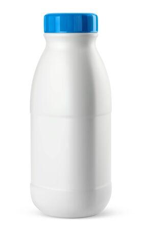 Vector milk bottle on white background