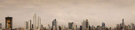 panama city: A panorama of the Panama City Skyline Stock Photo