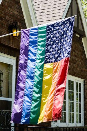 Gay Pride Flag Stock Photo