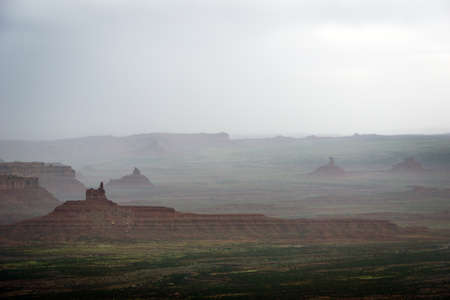 mesas: Spring Rains in the Valley of the Gods Utah.
