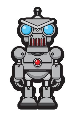 재미있는 로봇 일러스트