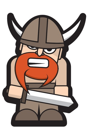Angry Viking with a Sword
