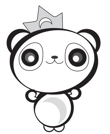 Cute Happy Panda Bear Illustration