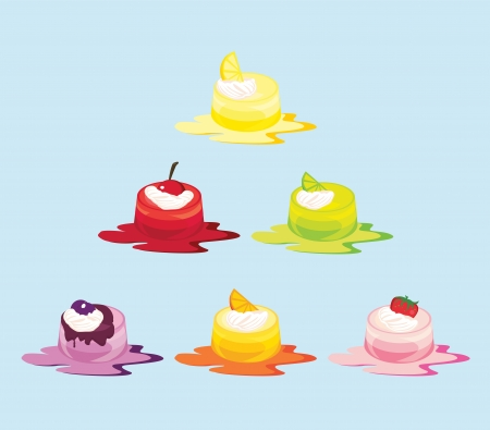 Vector Jelly Cakes