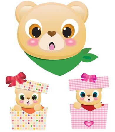 green cute: Cute Teddy Bears In Boxes