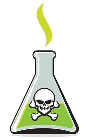 toxic substance: Chemical Bottle with Poison