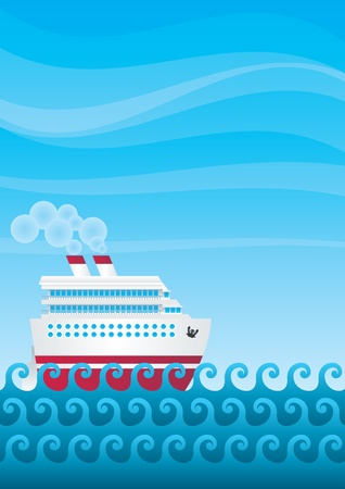 The cruise liner Stock Vector - 9467584