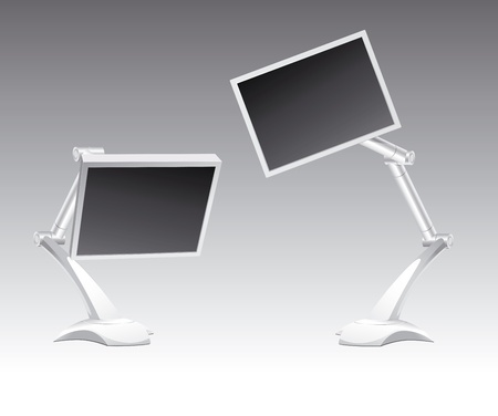 Two monitor Illustration