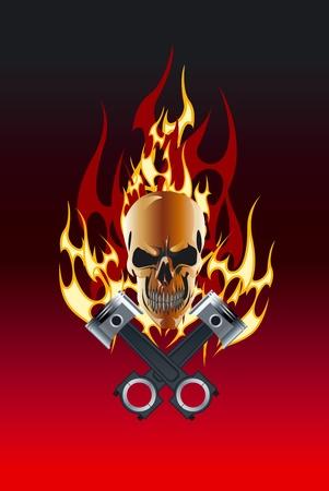 skull drawing: skull