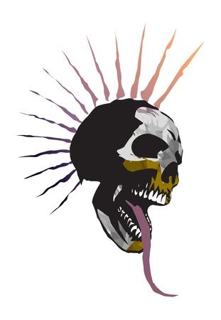grunge skull: skull