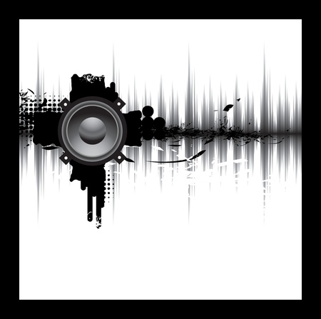 geluid: muziek Stock Illustratie