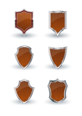 a set of vector heraldic shields Vector
