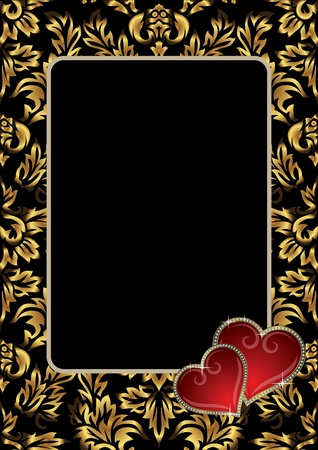 Framework to the Valentines day Vector