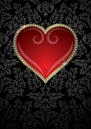 Heart to the Valentines day  Vector