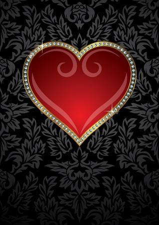 Herz der Valentinstag