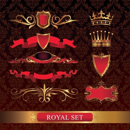 Royal set Vector