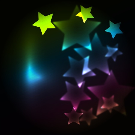 Star on a dark background  Stock Vector - 10439653