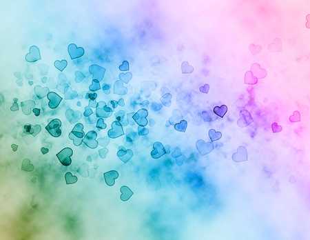 Abstract background from sparkling hearts