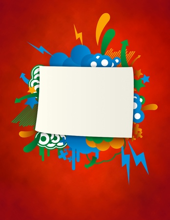 company board: coloured banner for announcements and presentations. Stock Photo