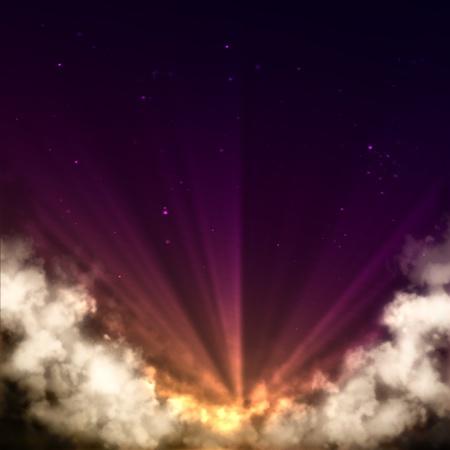 glistening: glistening rising star of dense clouds