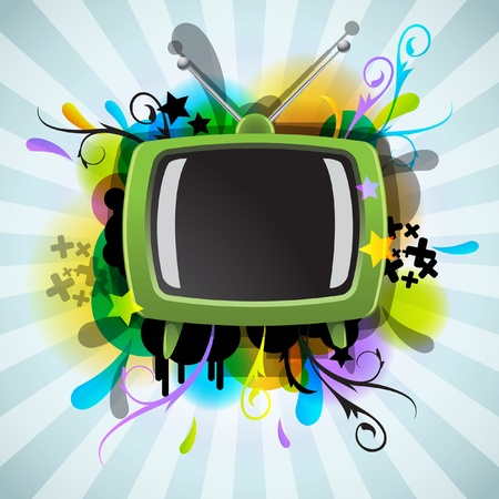 Abstract poster with the TV  Stock Vector - 10996766