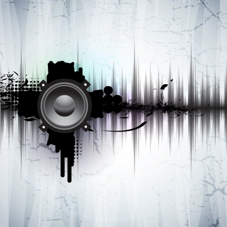 loudspeaker: abstract background Illustration