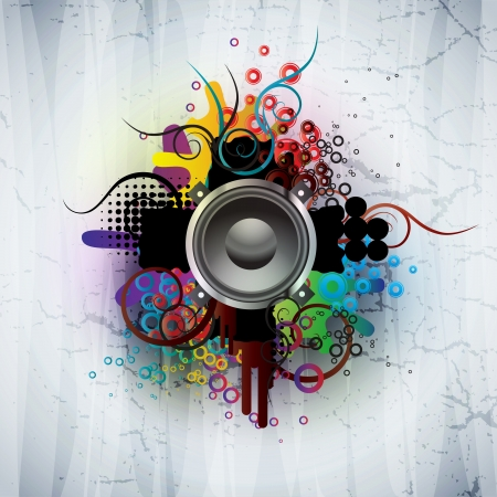 funky music: abstract background Illustration