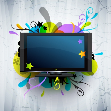 tv: abstract background Illustration