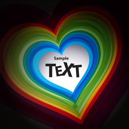 amur: Abstract colour heart symbol Illustration