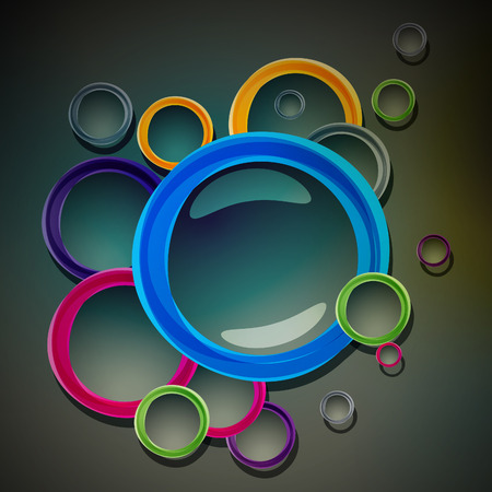 Abstract colour circle banner Illustration
